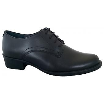 Grafters L116a Ladies Heeled Brogue Shoes Black