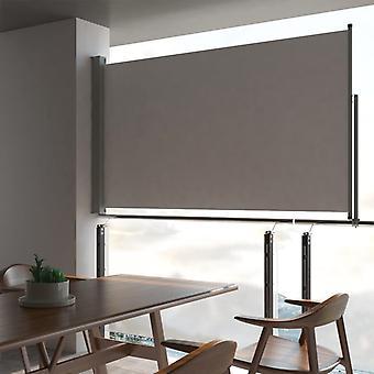 vidaXL Extendable side awning 140 x 300 cm Grey