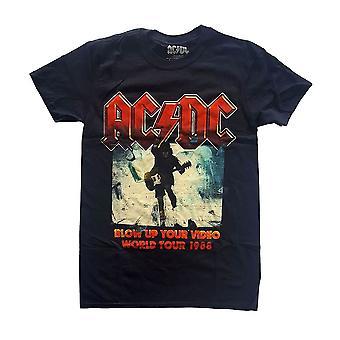 Men: n AC / DC räjäyttää video ahdistunut musta t-paita