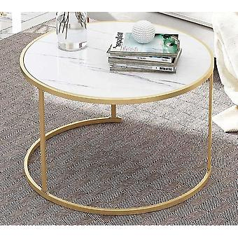 Кофейный стол Деревянный круглый мраморный журнал полка