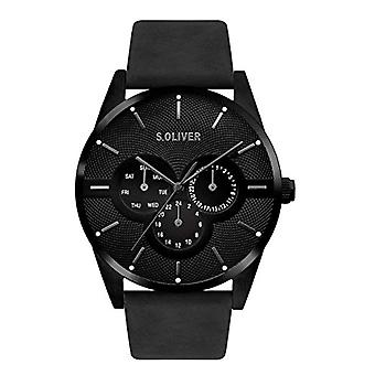 s.Oliver Analog Watch Unisex Adult Quartz with Leather Strap SO-3572-LM