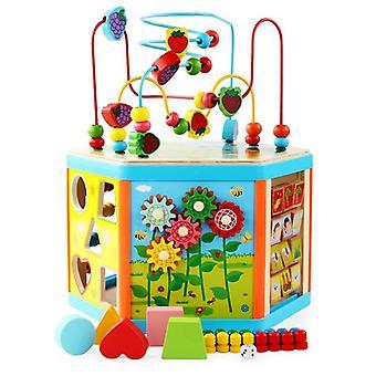 Dětské hračky Montessori dřevěné hračky 6 side intelligence box trénink hra puzzle matematické hračky| Matematické hračky
