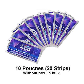 5/10/20 Pouch 3d Professional Whitening Strips Witte Tanden