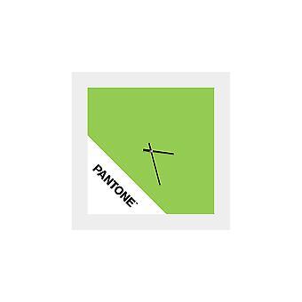 PANTONE Klocka Dubbel färg Grön, Vit, Svart, Metall L40xP0.15xA40 cm
