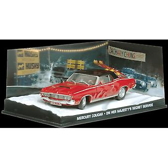 Mercury Cougar Diecast Model Car de James Bond On Her Majesty's Secret Service