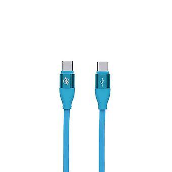 Data/laderkabel med USB-kontakt type C Blå (1,5 m)
