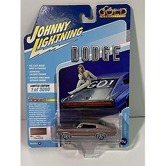 1967 Dodge Charger Mauve Poly 1:64 Johnny Lightning JLCG021B