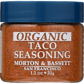 Morton & Bassett Seasoning Taco Organic, Case of 3 X 1.1 Oz
