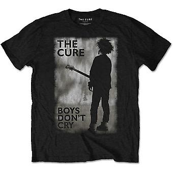 Cure - The - Boys Don't Cry Black & White Unisex Large T-paita - Musta