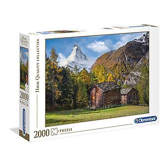 Clementoni Fascinatie voor Matterhorn Hoge Kwaliteit Legpuzzel (2000 Stukjes)