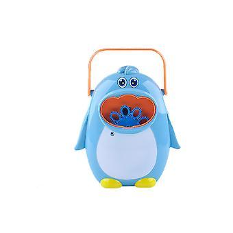 Summer Magic Funny Bubble Blower Machine Electric Automatic Bubble Maker Gun With Mini(Blue)