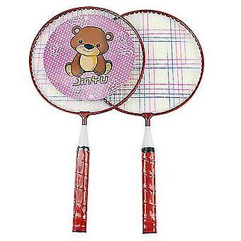 Cartoon Badminton Racket Kinderen Badminton Racket Iron Alloy Outdoor Sports Racket Set Is