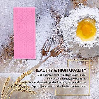 rosa silikon blonder fondant preget mold sukker kake dekorere mugg verktøy
