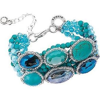 Ottaviani jewels bracelet with blue stones & beads 500042b