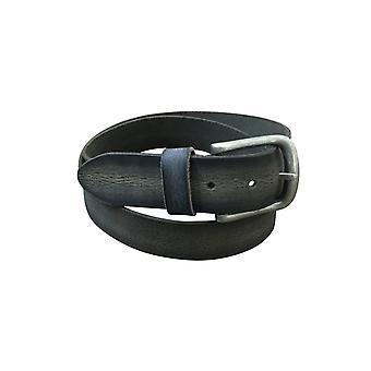 Jacaru 6016 robust läderbälte svart 40mm