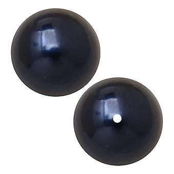 Preciosa Crystal Nacre Pearl, Pyöreä 8mm, 20 Pieces, Tummansininen