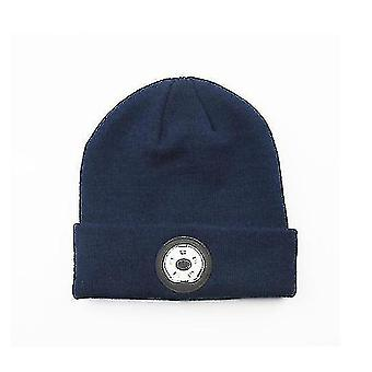 Bluetooth Beanie Music Hat Winter Knit Hat Cap Casque sans fil Haut-parleur musical Beanie (DARKBLUE)
