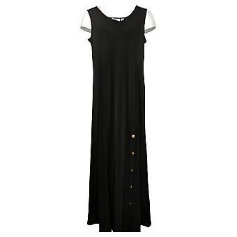 سوزان حفار فستان الصلبة السائل متماسكة ماكسي بلا أكمام أسود A374129