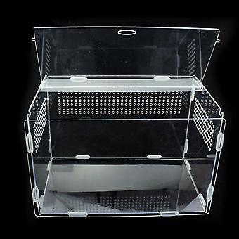Transparante acryl terrarium reptielen box huisdier benodigdheden voor koudbloedige dieren reptiel
