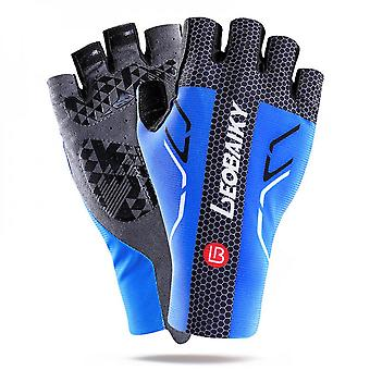 Men's Ultra Thin Cycling Half Finger Gloves With Shock Absorbing Gel Pad