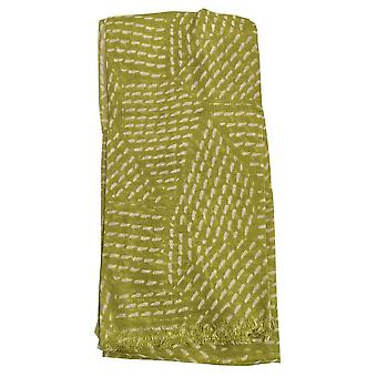 Polygon Design Large Modal Scarf Lime by Peony