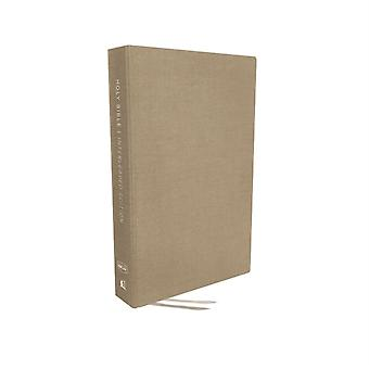 NKJV Interleaved Bible Journal Edition Hardcover Tan Red Letter Comfort Print by Thomas Nelson