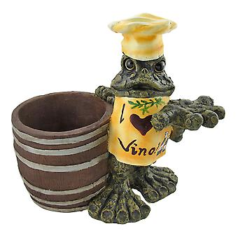 `I Love Vino` Chef Toad Wine Cooler and Corkscrew Holder