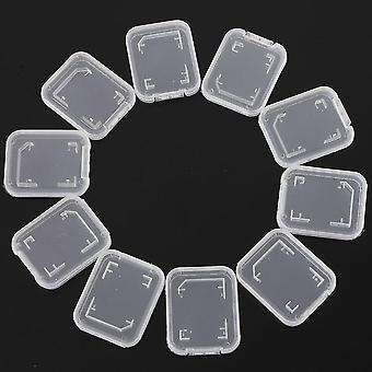 Transparent Memory Card Case Sd Sdhc Holder Plastic Storage Box For Standard Sd