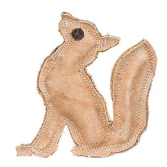 """Spot Dura-Fused Leather Fox Dog Toy - 7"""" Long x 7.25"""" High"""