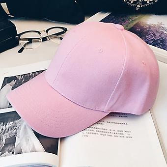 Adjustable Pure Color Blank Curved Plain Baseball Caps Good Visor Hat