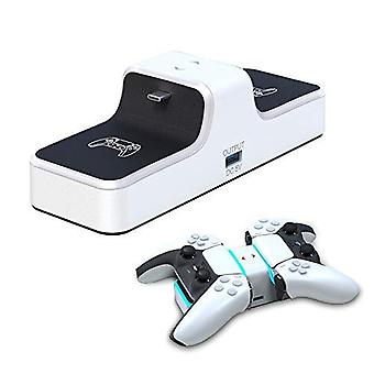 Playstation 5 Dualsense Controller Charger, Portable Charging Station For Ps5 Wireless Controller, Fast Charging Dock With Led Indicator - Ps5 Accesso