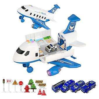 Car Toy Set Cargo Plane Transport Airplane