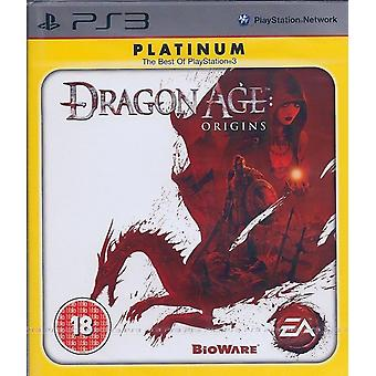 Dragon Age oorsprong spel Platinum Edition PS3 spel