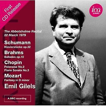 Schumann/Brahms/Chopin/Mozart - The Abbotsholme Recital, 22 March 1979 [CD] USA import