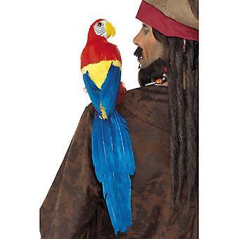 Papagal Pirate decorare Bird 3-culoare 50cm pentru costum de pirat cu banda de cauciuc