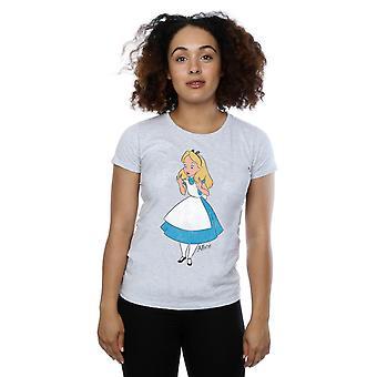 ワンダーランド t シャツ ディズニー女性の古典的なアリス