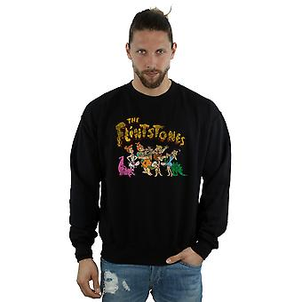 The Flintstones Men's Group Distressed Sweatshirt