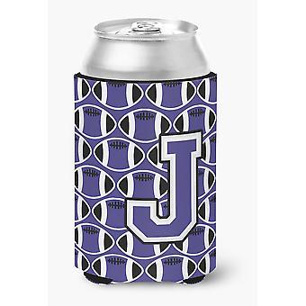 Buchstabe J Fußball lila und weißen Dose oder Flasche Hugger