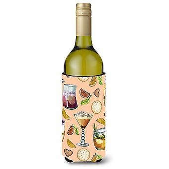 المشروبات وزجاجات زجاجة نبيذ الخوخ بيفيرجي عازل نعالها