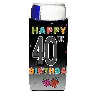 Glada 40: e födelsedag Ultra dryck isolatorer för slim burkar