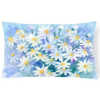 Light and Airy Daisies Fabric Decorative Pillow