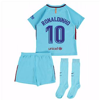 2017-2018 Barcelona Away Mini Kit (Ronaldinho 10)