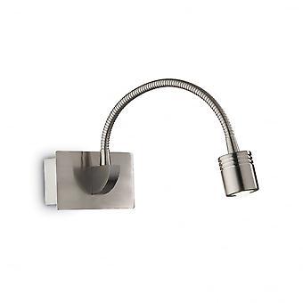 Ideel Lux Dynamo moderne nikkel Swan Neck læsning væglampe med Switch
