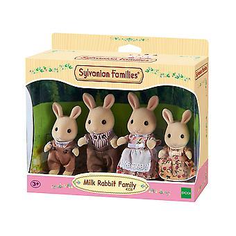 Família de famílias Sylvanian leite coelho
