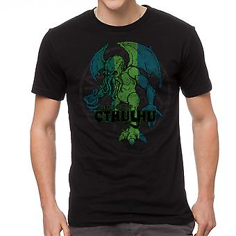 Warpo Cthulhu Distressed Men's Black T-shirt