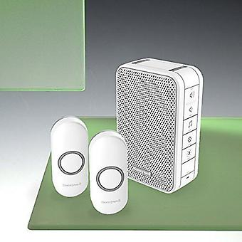 Honeywell DC313NFB 3 Series Portable Doorbell with Two Pushes - White