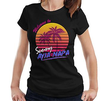 Tervetuloa Sunny Ayia Napa naisten 's t-paita