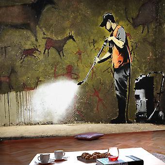 Fotomural - Banksy - Cave Painting