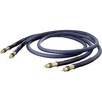 RCA audio/phono kabel [2x RCA plug (phono)-2x RCA plug (phono)] 1,75 m blauw vergulde connectoren Oehlbach XXL® serie 1