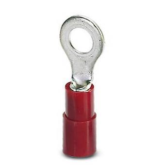 Phoenix Contact 3240019 Ring terminal dwarsdoorsnede (max.) = 1.50 mm² gat Ø = 5.3 mm gedeeltelijk geïsoleerd rood 100 PC('s)